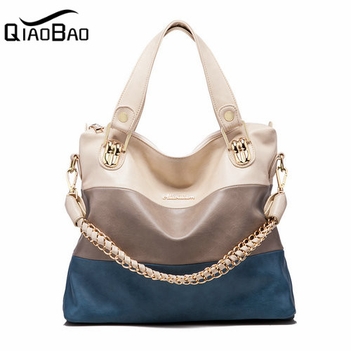 QIAO BAO 2017 Famous genuine leather women's handbag /Cowhide one shoulder messenger bag for women / Hot selling leather bags