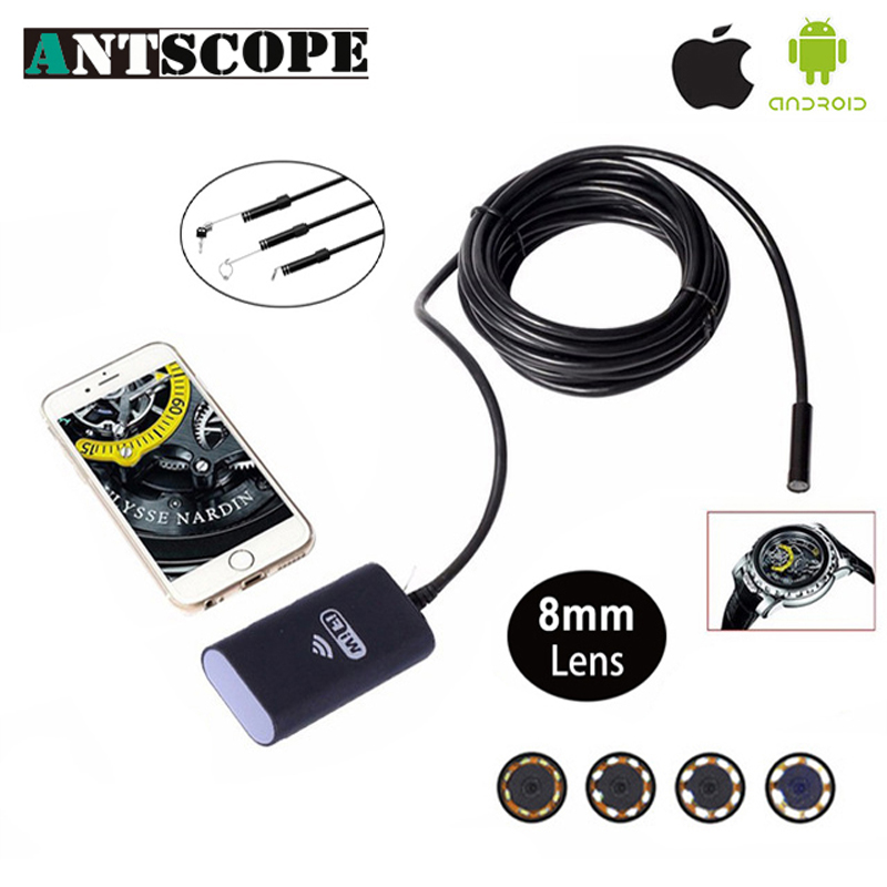 Antscope Wifi Endoscope Camera 3.5M Boroscope 720P Camera Endoscopio iOS Borescope Camera 45