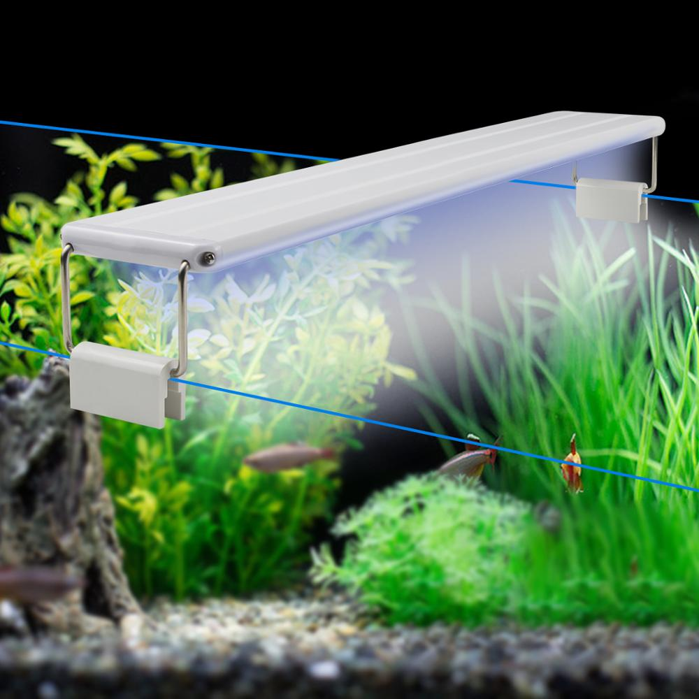 LED Aquarium light Clip-on Fish Tank lighting fixtures fishbowl Lamp Aquatic Plant Waterweed Water Grass Seed Plants Grow Light(China)