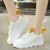Top 2017 Fall Hot Women White Sports Shoes Female Thick Bottom Muffin Shoes Outdoor Comfort Walking
