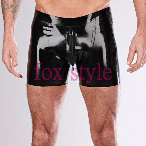 100% handmade rubber boxes short pants briefs