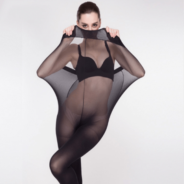 08efb2557b9 Super Elastic Magical Stockings New Women Seamless Sexy Black Thin Pantyhose  Ladies Tights Nude Sheer Mesh Collant Femme