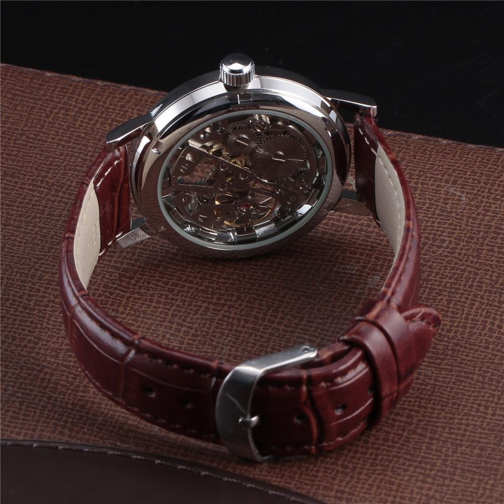 Top marca de lujo SEWOR esqueleto relojes hombres Steampunk mano - Relojes para hombres - foto 6