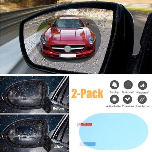 2PCS Waterproof Car Rearview Mirror Sticker Anti-fog Protective Film Rain Shield