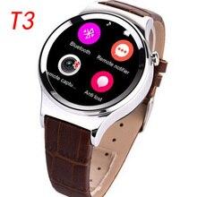 2016 neue Ankunft Bluetooth 4,0 Smartwatch T3 Unterstützung SIM SD karte sms mp3-player leder smart watch für ios apple & android telefon