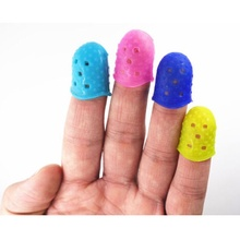 4Pcs Fingertip Protector Finger Guard Guitar Fingerstall Guitar Ukulele String Finger Guard Guitar Parts Makeup Tool