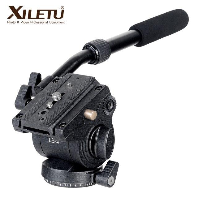 Xiletu LS-4 рукоятки видео Студийный набор жидкости Перетащите гидравлическая Штативная головка и Quick Release Plate для ARCA-SWISS Manfrotto