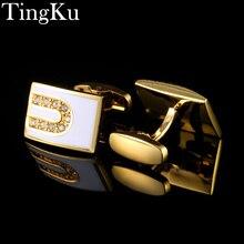 hot deal buy cufflinks for mens shirt crystal silver luxury men jewelry mens woman cufflinks wedding cuff links buttons brand gold