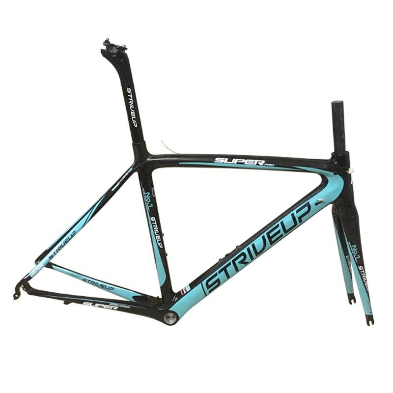 Cadre route carbone chine vélo de route cadre carbone accessoire vélo de course vélo PF30 BSA brillant mat 50/53/55 di2 conique UD t800