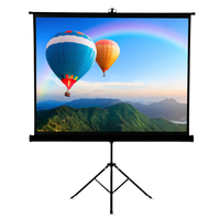 Projector Screen Stand 120 inch Portable Tabletop 4:3 Foldable Tripod Projector Brackets for Home Business School