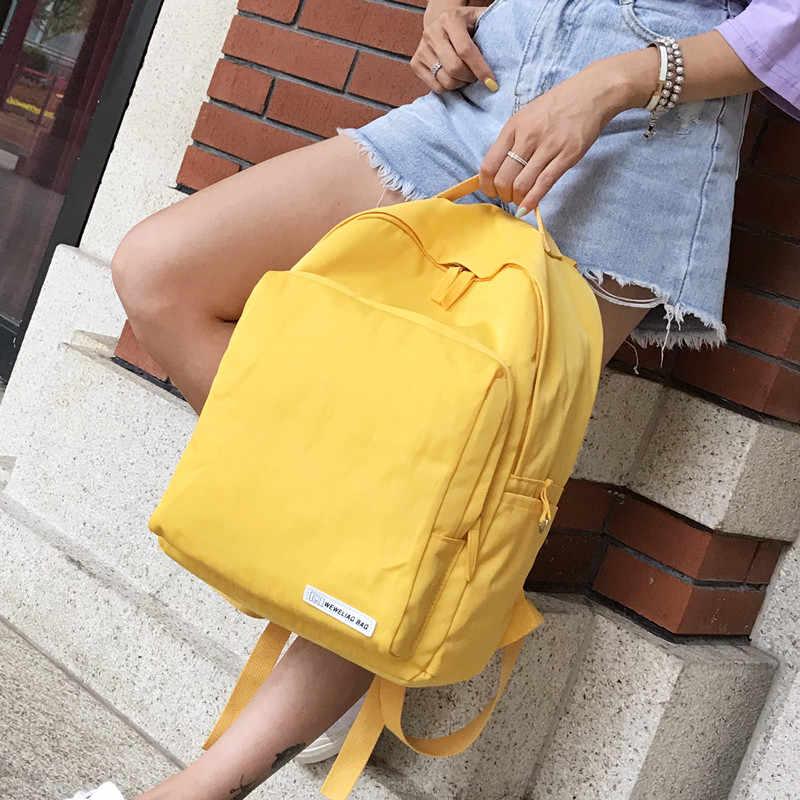 de6931dc0b39 Mori Ulzzang Pink Backpack Women Korean Harajuku Cute School Book Bag Pack  Teenager Casual Waterproof Large