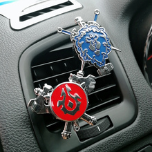 цена на Cartoon Air Freshener Clip Car Styling Perfume For Air Condition Vent The WOW For the tribe For the alliance Camp flag Fans D5