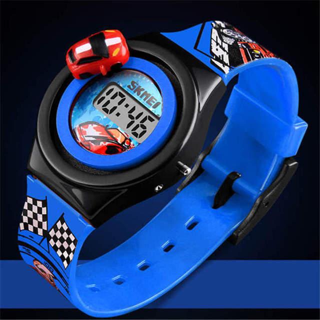 SKMEI Luxury Children's Watch Sporty Racing Kids Wristwatch Boy Girl Baby Watche