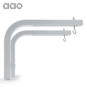 """Image 1 - AAO Projector Screen Wall Mount Brackets """"L"""" Mounting Extension Projection Screens Hook Bracket Wall Mounting Arms Holder Stand"""