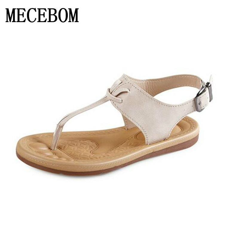 2017 Summer Flat Sandals Ladies Bohemia Beach Flip Flops Gladiator Women Shoes Sandles platform Zapatos Mujer Sandalias 02L2W 2016 new summer peep toe flat platform buckle cross tied genuine leather horse hair women sandals flip flops mujer sandalias