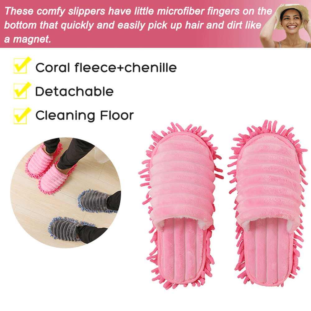 زوج الساخن بيع متعددة الوظائف الألياف النعال أغطية الحذاء النعال نظيفة كسول سحب الأحذية ممسحة قبعات الأدوات المنزلية مع 6 ألوان