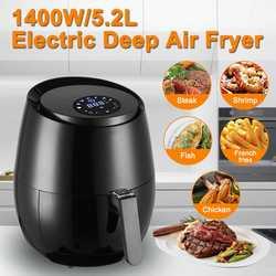 Freidora de aire libre de aceite de 1400W 5,2l cocina de la freidora de la salud de la freidora de la Pizza de la pantalla táctil inteligente para papas fritas