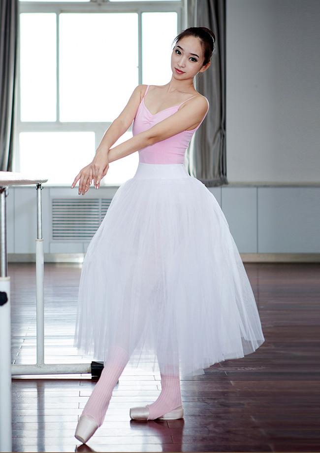 f6ffff926c SONGYUEXIA Woman ballet long skirt Adult white ballet tutu skirt ...