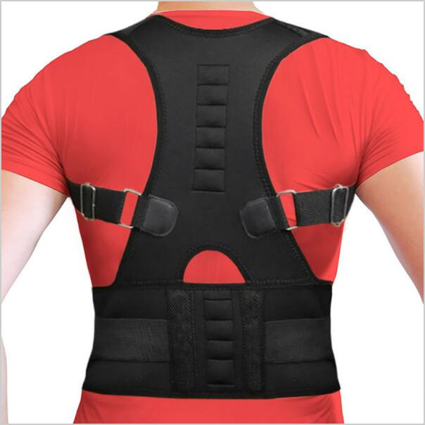 Men's Magnetic Posture Corrector Corset Back Support Brace Lumbar Support Straight Back Belt Posture Corrector Free Shipping