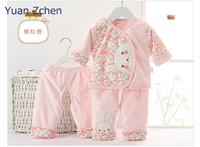 Autumn Winter Baby Girls Boys Clothing Kid Flower Thicken Warm Clothes Set Long Sleeve Pants