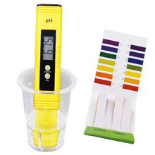 New combination 0.01 Digital PH Meter Tester and PH 1-14 Litmus Paper test Portable strips Indicator 20% off