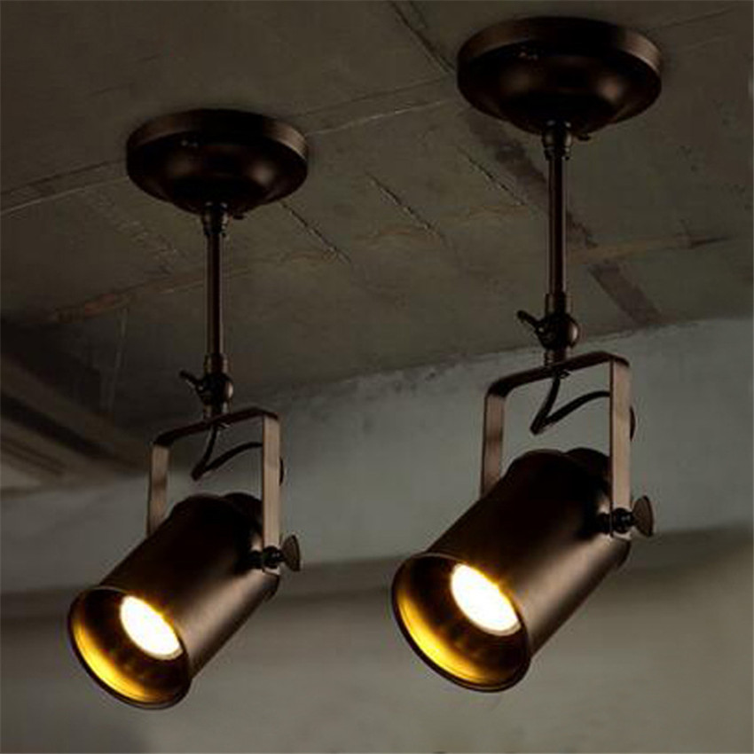 ФОТО Modern Brief Vintage Led Ceiling lamps,American Industrial Creative Led Ceiling Lights for bar clothing store Plafond Lamp