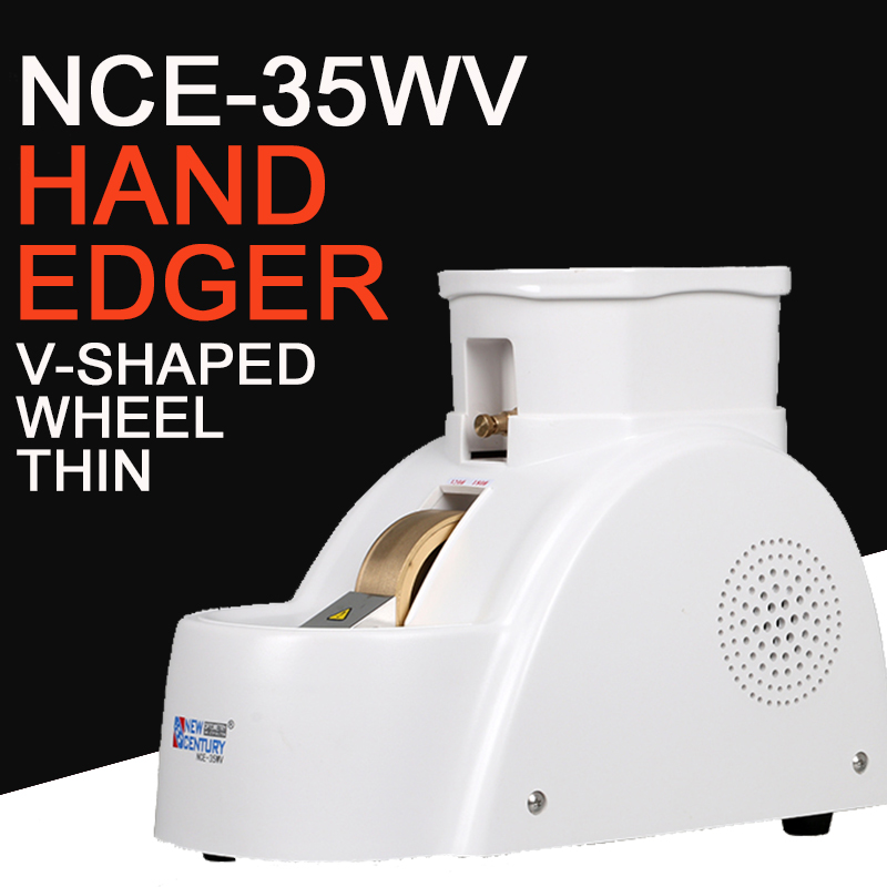 Optical Hand Edger Grinding Machine Manual Edger Specialized for Glass Material 35MM with V-groove