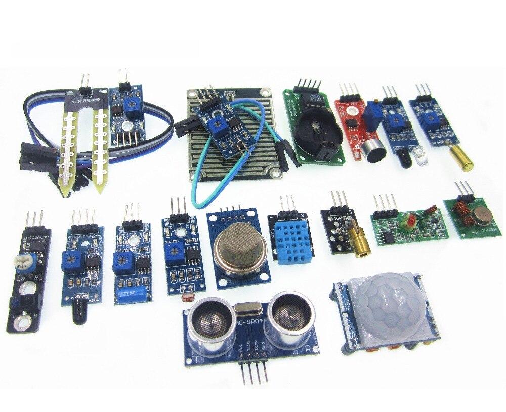 16 pcs/lot Raspberry Pi 3 et Raspberry Pi 2 Modèle B le capteur module paquet 16 sortes de capteur