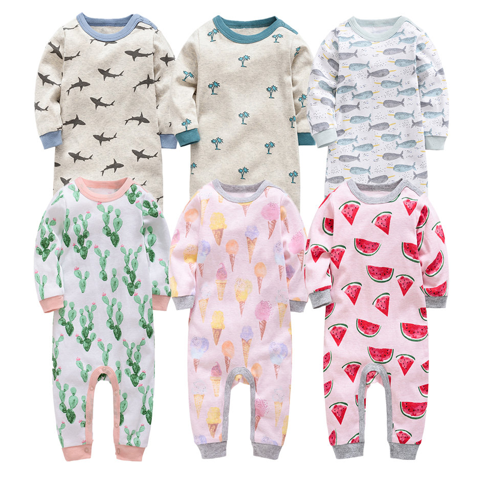 2019 Baby Clothes Long Sleeve Cotton Infant Baby Clothing Romper Cartoon Costume Ropa Bebe 3 6 9 12 M Newborn Boy Girl Clothes
