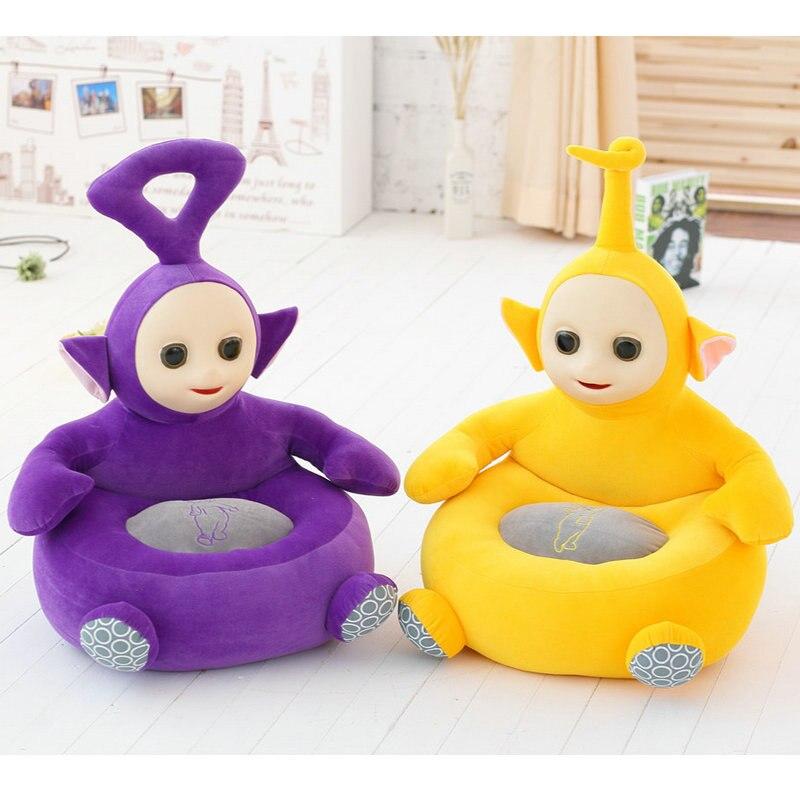 Teletubbies les enfants apprennent Chaise Bébé Poupée Télé tubbies tinky winky Dipsy Laa Po Film Peluche 3D Silicone Visage jouets pour enfants
