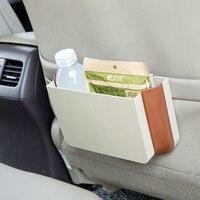 E SHOW Original Car Folding Trash Can Hanging Phone Storage Box Rubbish Bin Car Interior Accessories