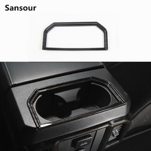 Sansour ABS Car Armrest Box Cup Holder Ring Cover Trim Interior Decoration Stickers For Frod F150 2016 Up Car Styling