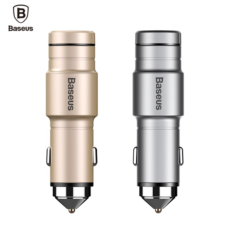 Baseus Brand Portable Wireless Bluetooth Earphone Headphone Car Charger 2 in 1 Bluetooth Headset and 2.4A Fast Car Phone Charger