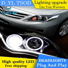 D YL Car Styling for Toyota Corolla Headlights 2011 2013 Corolla LED Headlight DRL Bi Xenon_220x220 popular headlight corolla buy cheap headlight corolla lots from  at creativeand.co