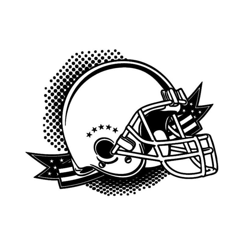 Removable American Football Helmet Wall Sticker Art Vinyl Wall Decal Soccer Sport Style Room Special Wallpaper Wall Murals Y-570