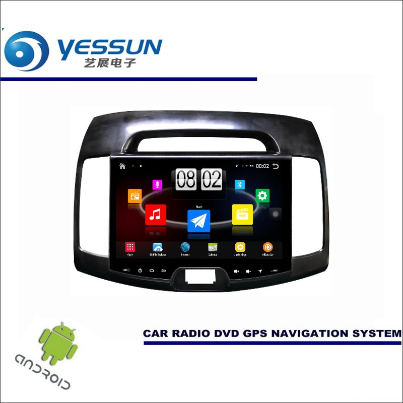 YESSUN Car Android Player Multimedia For Hyundai Elantra HD 2007~2010 Radio Stereo GPS Map Navi ( no CD DVD ) 10.1 HD Screen yessun for mazda cx 5 2017 2018 android car navigation gps hd touch screen audio video radio stereo multimedia player no cd dvd