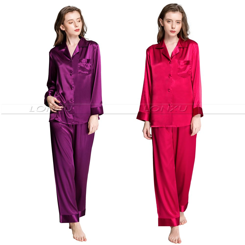 Womens Silk Satin Pajamas Set  Pajama Pyjamas  Set  PJS  Sleepwear  Loungewear S,M,L,XL,2XL,3XL  Plus  Size