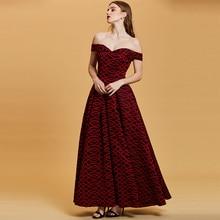 Tanpell off the shoulder evening dress golden a line zipper up floor length gown women wedding party formal long dresses