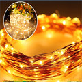 Solar Power String Light 17M 150 Led Copper Wire String Fairy Light For Outdoor Living Decoration Garden