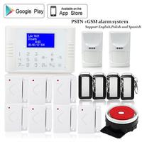 433mhz Wireless Quad Band Gsm Pstn Dual Networks Sms Telephone Alarm System IOS Android App Remote