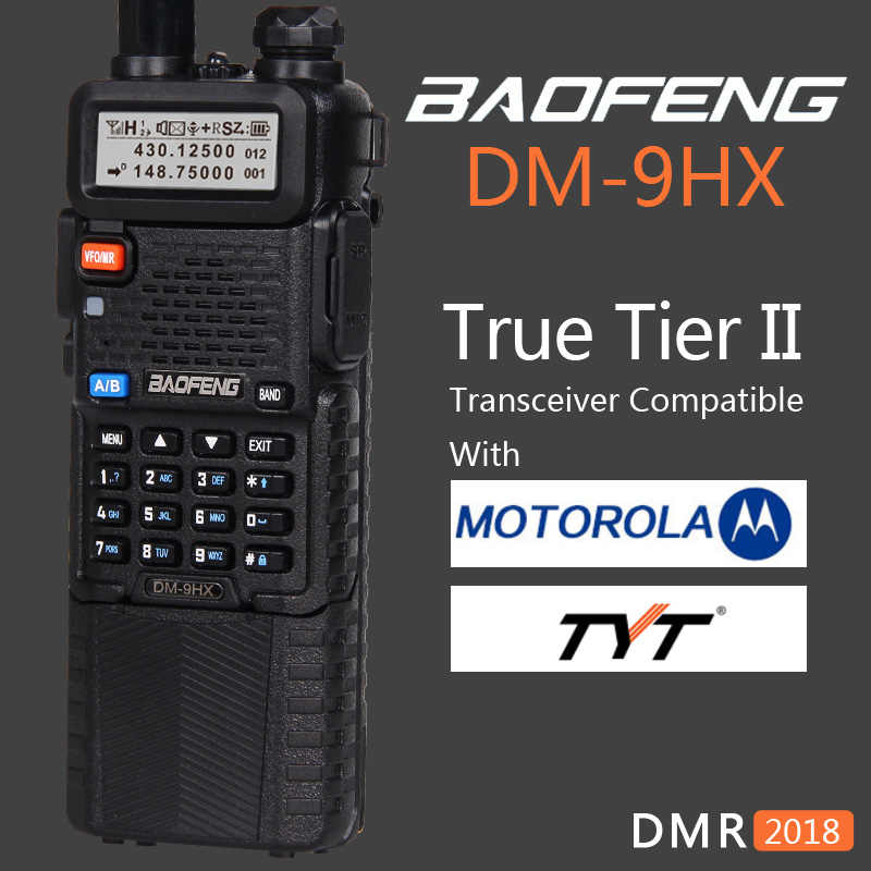 Baofeng 2019 double bande Tier 2 II DMR Radio bidirectionnelle numérique talkie-walkie DM-9HX soeur Station de Radio DM-5R Plus UV-5R UV5R UV 5R