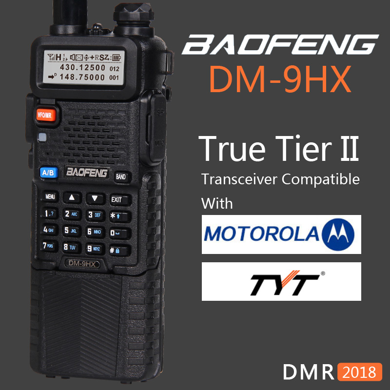 Baofeng 2019 Dual Band Tier 2 II DMR Digital Two-way Radio Walkie Talkie DM-9HX Sister Radio Station DM-5R Plus UV-5R UV5R UV 5R
