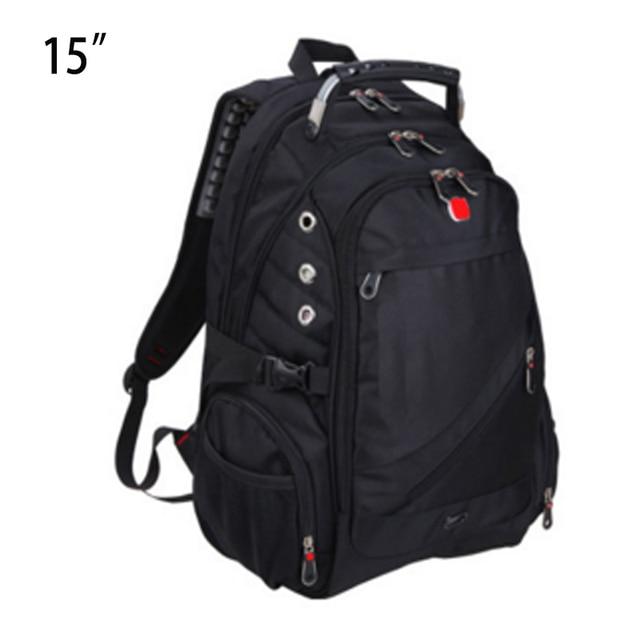 Black laptop school backpack travel bags men notebook  waterproof oxford bag Travel backpacks for man 14 15 inch