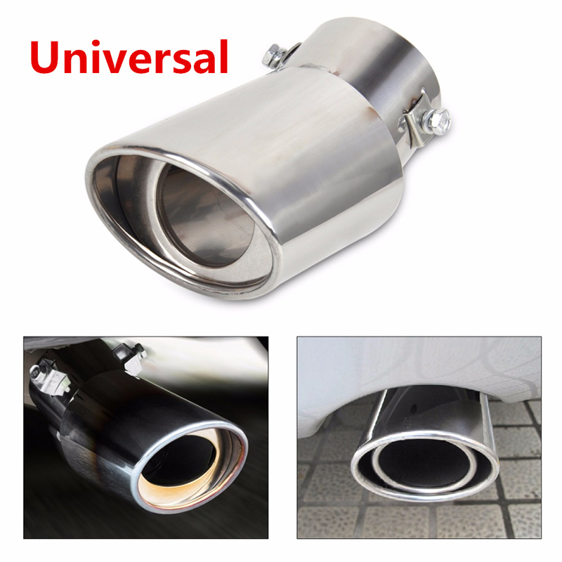 Muffler-Tip Car-Accessories Exhaust-Pipe Stainless-Steel Universal Tail Rear Auto SUV