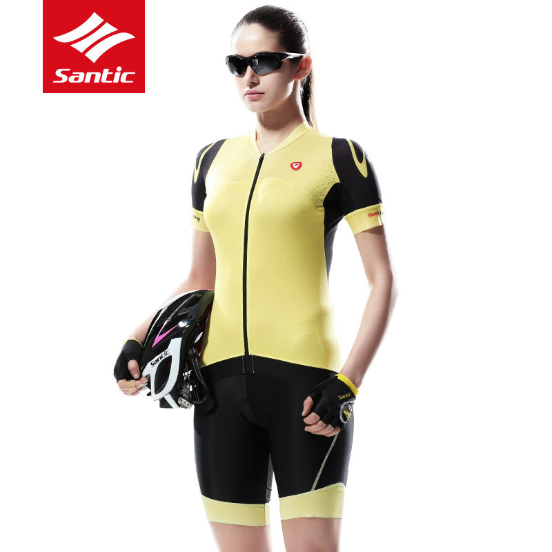Santic Pro Women Cycling Set Jersey MTB Road Short Sleeve Bicycle Kit Bike Clothing Pro Padded Shorts Ropa Ciclismo S-XL 2017 polyester summer breathable cycling jerseys pro team italia short sleeve bike clothing mtb ropa ciclismo bicycle maillot gel pad