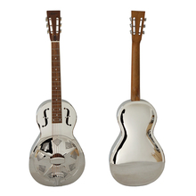 China parlour size brass body single cone resonator guitar
