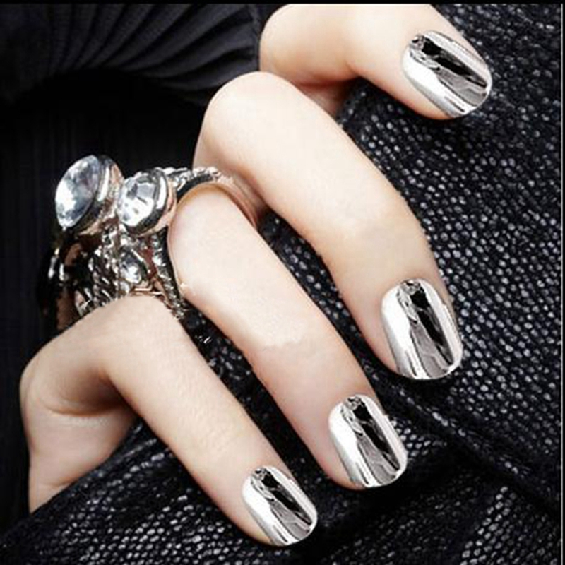 Aliexpress 1pcs Foil Nail Sticker Rolls Tape 120m 4cm Pure Silver Decal 3d Art Decoration Diy Accessories No Need Glue Jh104 From