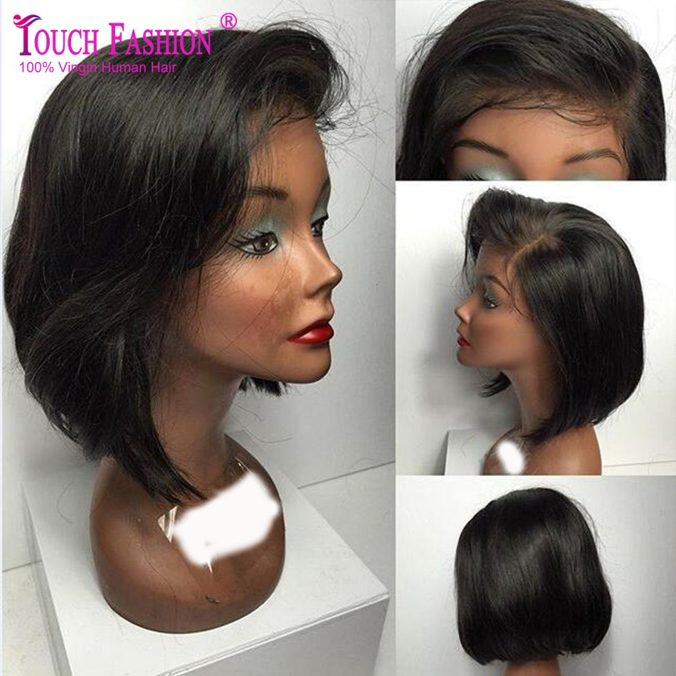 Short bob lace front wigs black woman apologise, but