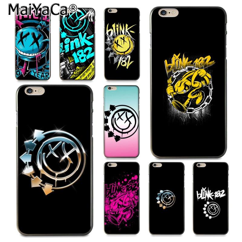 MaiYaCa группа Blink 182 Логотип Дизайн Высокое качество телефона чехол для iPhone 8 7 6 6 S Plus X 10 5 5S SE 5C Coque Shell ...