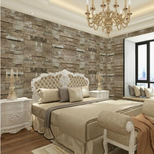 Retro moderno recuperada ledgestone pared de ladrillo for Papel pared efecto piedra